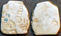 Ancient Coins - INDIA, MAURYA: Series Va punchmarked silver karshapana, GH 486
