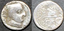 Ancient Coins - INDIA, WESTERN KSHATRAPAS: Damasena (223-236 CE) Silver drachm, as Mahakshatrapa, year S. 154