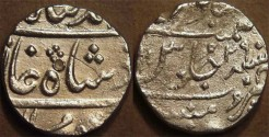Ancient Coins - BRITISH INDIA, BOMBAY PRESIDENCY: Silver rupee in the name of Muhammad Shah (1719-1748), Munbai, RY 29. VERY SCARCE!