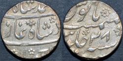 Ancient Coins - INDIA, MUGHAL, Muhammad Shah (1719-48): Silver rupee, Murshidabad, year 28, CHOICE+