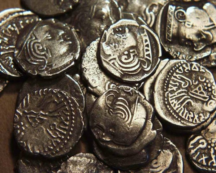 Ancient Coins - INDIA, WESTERN KSHATRAPAS: Unattributed Mixed AR drachms