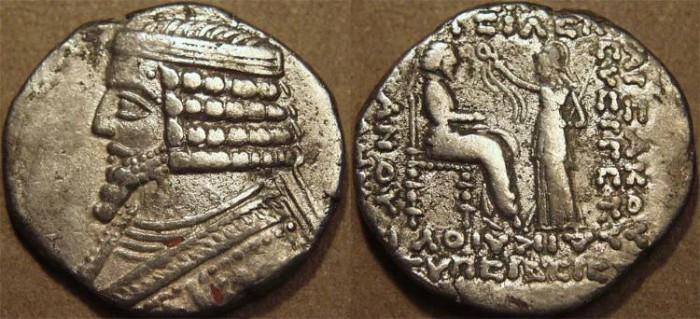 Ancient Coins - PARTHIA, PHRAATES IV (38-2 BCE) Silver tetradrachm, Seleucia, Sell 52.7