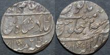 Ancient Coins - INDIA, MUGHAL, Aziz-ud-din 'Alamgir II (1754-59) AR rupee, Gwalior, RY 2. CHOICE!