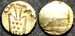Ancient Coins - DUTCH INDIA: Gold fanam, Negapatam type, later issue.