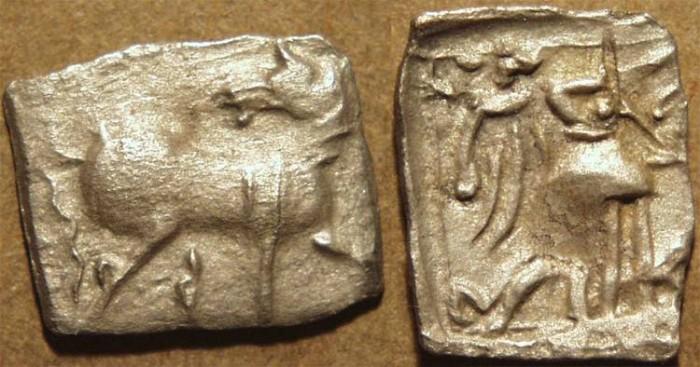 Ancient Coins - INDO-SCYTHIAN: Early Anepigraphic AR hemidrachm from Arachosia. SCARCE and CHOICE!