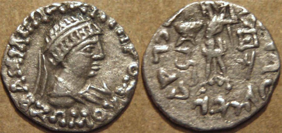 Ancient Coins - INDO-GREEK: Zoilos (Zoilus) II Silver drachm, realistic, young portrait. CHOICE!