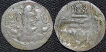 INDIA, ALCHON HUNS, Anonymous post-Mehama Silver drachm, Göbl 70. Fine style type. VERY RARE and CHOICE!
