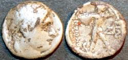 Ancient Coins - BACTRIA (BAKTRIA): Diodotus (or Diodotos) I or II AR drachm, as Seleucid satrap, RARE!