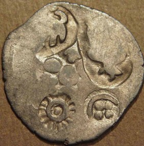 Ancient Coins - INDIA,MAGADHA: Archaic period Silver 20-mashas. EXTREMELY RARE and CHOICE!