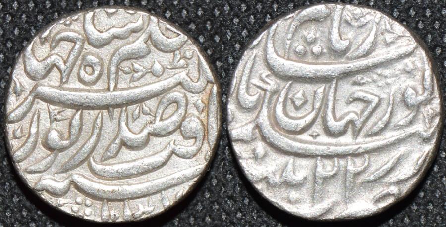 World Coins - INDIA, MUGHAL, Jahangir (1605-28) Silver rupee naming Nur Jahan, Patna, RY 22, AH 1037. SCARCE and CHOICE!