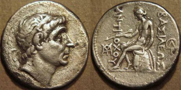 Ancient Coins - SELEUCID KINGDOM, Antiochos II AR tetradrachm, Seleucia.