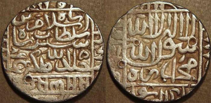 World Coins - INDIA, DELHI SULTANATE, Islam Shah (1545-52) Silver rupee, Agrah, AH 957