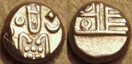 Ancient Coins - DUTCH INDIA: Gold fanam, Negapatam type. SUPERB!