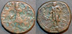 Ancient Coins - INDIA, KUSHAN: Kanishka I AE tetradrachm, Buddha reverse, Cribb 5. VERY RARE and CHOICE!