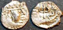 Ancient Coins - INDIA, UNKNOWN KINGDOM IN SIND OR PUNJAB, Yashaditya Silver damma, SUPERB!