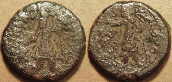 Ancient Coins - INDIA, KUSHAN: Kanishka I AE didrachm, MIOPO reverse