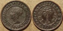 Ancient Coins - SRI LANKA (CEYLON), BRITISH PERIOD, Queen Victoria AE 1/4 cent, 1898