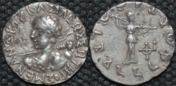 Ancient Coins - INDIA, INDO-GREEK: Menander I Silver drachm, SCARCE early type with continuous legend. CHOICE!