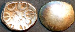 Ancient Coins - INDIA, GANDHARA janapada, Silver 1/8 satamana, Type 4. CHOICE!