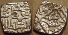 Ancient Coins - INDIA, KASHMIR SULTANS, Muhammad Shah (1484-1537, in 5 reigns) Silver sasnu, K44. SCARCE + CHOICE+!