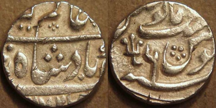Ancient Coins - INDIA, NAWABS of BENGAL: Silver Half Rupee in name of Alamgir II, Azimabad, AH 1172, RY 6. RARE + CHOICE!