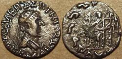 Ancient Coins - Indo-Greek: Hermaios AR drachm. SCARCE & CHOICE!