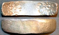 "Ancient Coins - INDIA, GANDHARA janapada, Silver ""bent bar"" satamana, Type 2. SUPERB!"