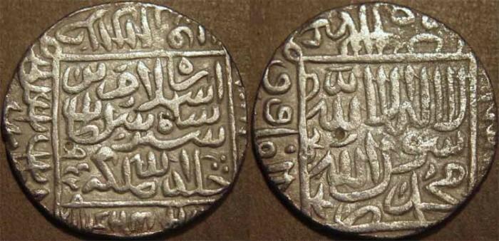 World Coins - INDIA, DELHI SULTANATE, Islam Shah (1545-52) Silver rupee, Gwaliar, AH 952. CHOICE!