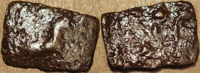 World Coins - INDIA, SANGAM AGE MALAYAMAN (C 1ST-3RD CENTURY): Anonymous Copper unit. VERY RARE!