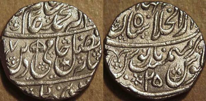 Ancient Coins - INDIA, MUGHAL, Shah Alam II: Silver rupee, Shahjahanabad, AH 1197, RY 25. SUPERB!
