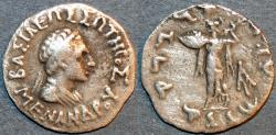 Ancient Coins - INDO-GREEK: Menander I Silver drachm, bare-headed type. Bop 13B. CHOICE!