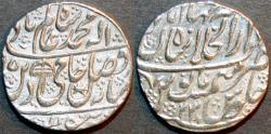 World Coins - INDIA, MUGHAL, Shah Alam II: Silver rupee, Shahjahanabad, AH 1195, RY 23. SUPERB!