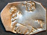 Ancient Coins - INDIA, MAGADHA: Series I AR punchmarked karshapana GH 160. RARE!