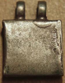 Ancient Coins - INDIA, MAHARASHTRA, Silver pendant locket featuring a diety (Hanuman?)