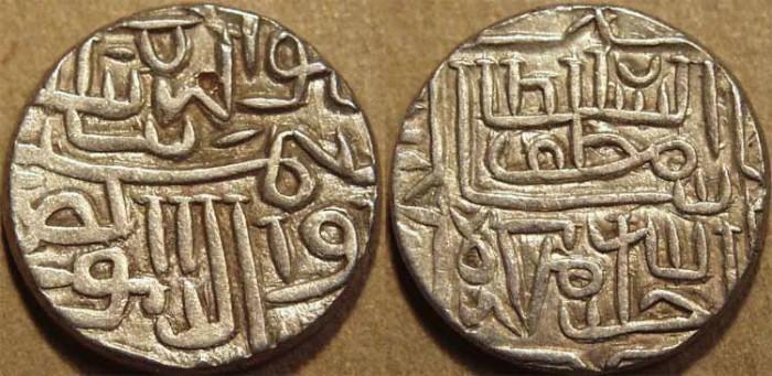 World Coins - INDIA, GUJARAT SULTANATE, Shams al-din Muzaffar II: Silver tanka (64 ratti standard), SUPERB!