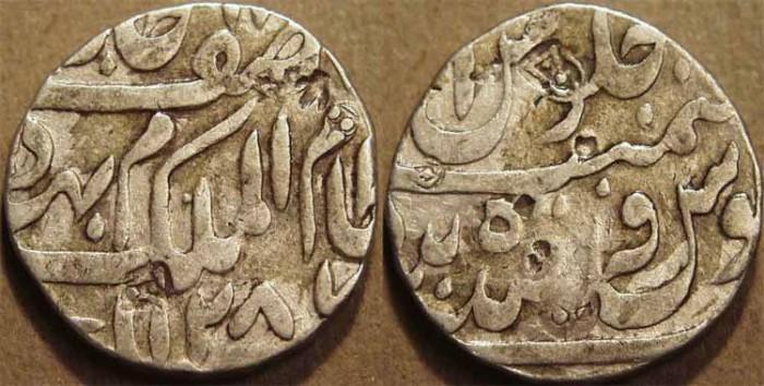 World Coins - INDIA, HYDERABAD, Mir Mahbub Ali Khan (1868-1911) Silver rupee ino Asaf Jah, Hyderabad, AH 1287, RY 1. UNLISTED and CHOICE!