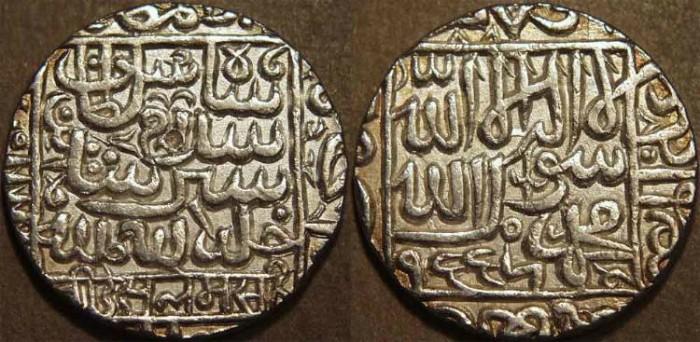 World Coins - INDIA, DELHI SULTANATE, Islam Shah (1545-52) Silver rupee, Chunar, AH 955. SCARCE + SUPERB!