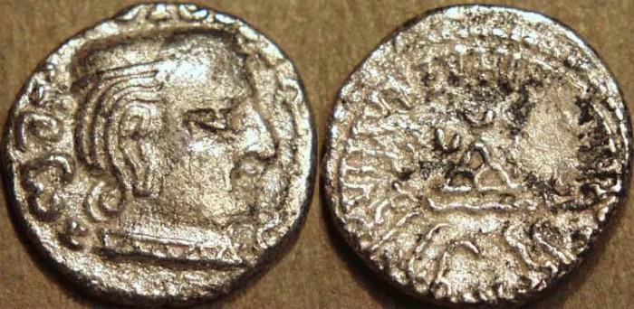 Ancient Coins - INDIA, WESTERN KSHATRAPAS: Damasena (223-236 CE) Silver drachm, as Mahakshatrapa, year S. 151