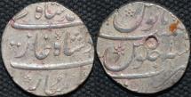 Ancient Coins - INDIA, MUGHAL, Muhammad Shah (1719-48): Silver rupee, Surat, year 10