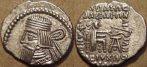 PARTHIA, ARTABANOS III (80-90 CE) Silver drachm, Ecbatana, Sell 74.6. RARE & SUPERB! Priced to sell!