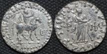 Ancient Coins - INDO-SCYTHIAN, AZES II Silver tetradrachm, Athena reverse, Senior 98.352T. CHOICE!