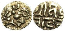 Ancient Coins - INDIA, KALACHURIS of RATNAPUR: Ratna Deva Gold 1+1/8 masha. RARE+CHOICE! PRICED TO SELL!