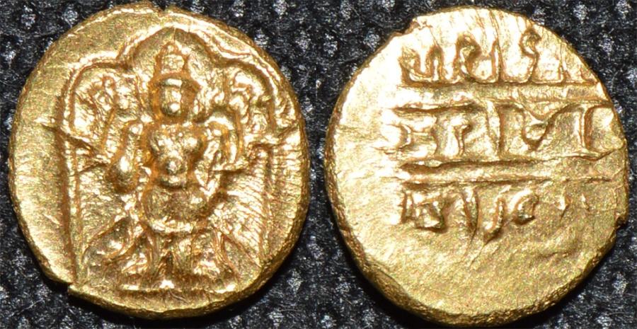 World Coins - INDIA, Vijayanagar: Venkatapiraya III (1630-41) Gold half pagoda