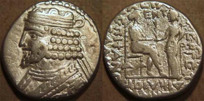 Ancient Coins - PARTHIA, VARDANES I (40-45 CE) Silver tetradrachm, Seleucia, Sell 64.21