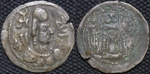 INDIA, ALCHON HUNS, Khingila Silver drachm, Göbl 57. SCARCE!