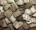 Ancient Coins - INDIA, MAURYA: Unattributed, Selected  Punchmarked AR karshapanas. Lot of 5 different types.