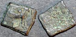 Ancient Coins - INDIA, WESTERN KSHATRAPAS: Jayadaman (c.130 CE) AE unit. RARE!
