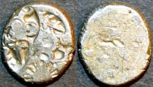 Ancient Coins - INDIA, MAURYA: Series VIb Silver punchmarked karshapana, GH 582. SUPERB!