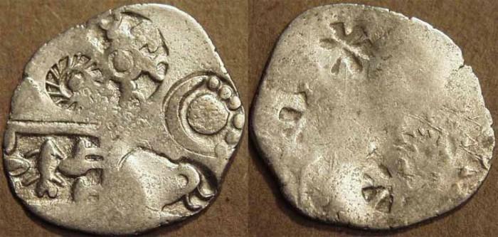 Ancient Coins - INDIA, MAGADHA: Series I AR punchmarked karshapana GH 243. CHOICE!