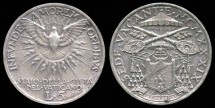 World Coins - 1939 Vatican 5 Lira UNC